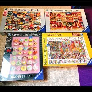 Ravensburger Puzzle Bundle 1000 Pieces